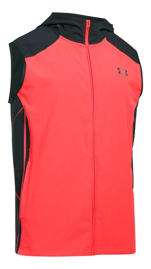 Mens Under Armour Storm Vortex Vests Jackets - Marathon Red L