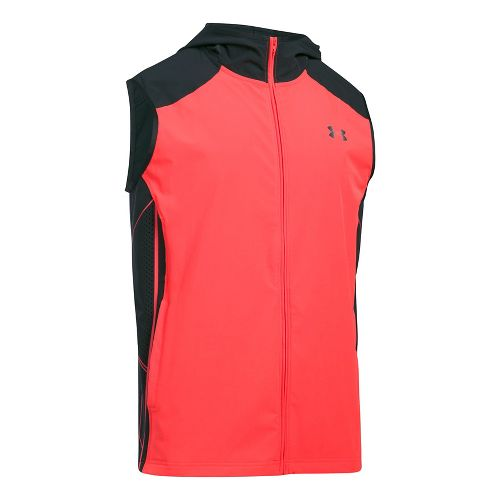 Mens Under Armour Storm Vortex Vests Jackets - Marathon Red S