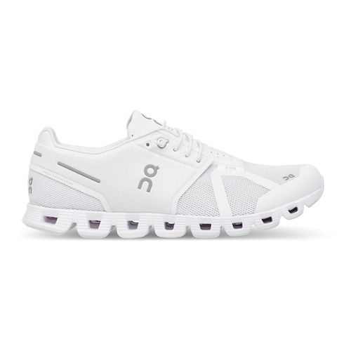 Womens On Cloud Running Shoe - White/White 10.5