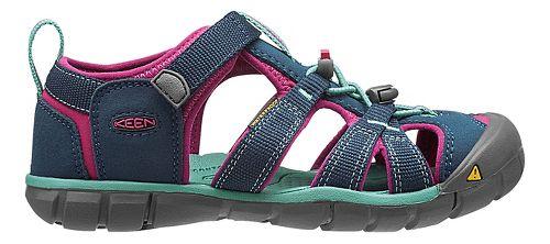 Kids Keen Seacamp II CNX Sandals Shoe - Poseidon/Very Berry 11C