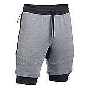 Mens Under Armour Threadborne Novelty Lined Shorts
