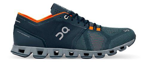 Mens On Cloud X Running Shoe - Storm/Orange 9