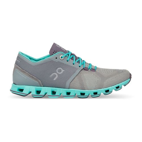 Womens On Cloud X Running Shoe - Grey/Atlantis 7