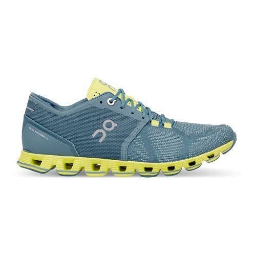 Womens On Cloud X Running Shoe - Niagara/Lime 6.5