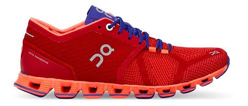 Womens On Cloud X Running Shoe - Red/Orange 9