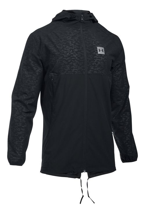 Mens Under Armour Sportstyle Fish Tail Casual Jackets - Black/Black 4XL