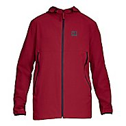 Mens Under Armour Sportstyle Fish Tail Casual Jackets - Cardinal/Black L