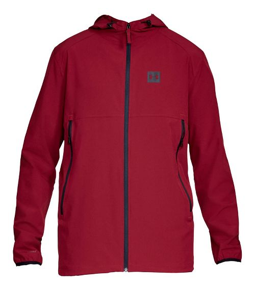 Mens Under Armour Sportstyle Fish Tail Casual Jackets - Cardinal/Black M