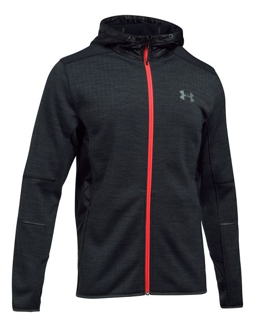 Mens Under Armour Swacket Novelty Full-Zip Running Jackets - Raisin Red S