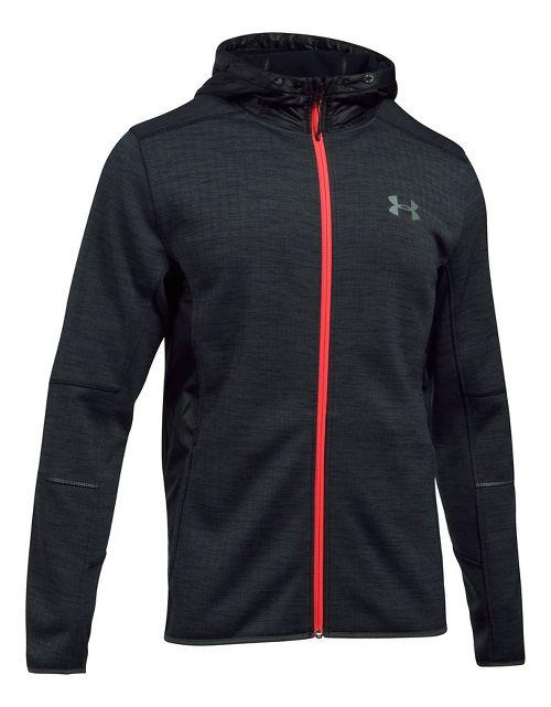 Mens Under Armour Swacket Novelty Full-Zip Running Jackets - Black XL-T