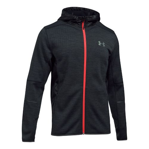 Mens Under Armour Swacket Novelty Full-Zip Running Jackets - Black M