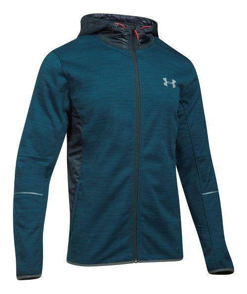Mens Under Armour Swacket Novelty Full-Zip Running Jackets - True Ink/Anthracite L