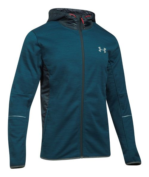Mens Under Armour Swacket Novelty Full-Zip Running Jackets - True Ink/Anthracite XL