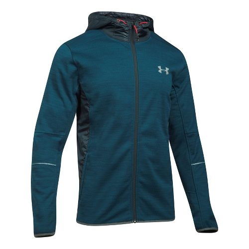Mens Under Armour Swacket Novelty Full-Zip Running Jackets - True Ink/Anthracite XXL
