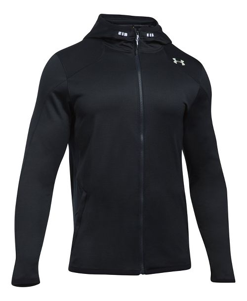 Mens Under Armour Reactor Full-Zip Cold Weather Jackets - Black L-T