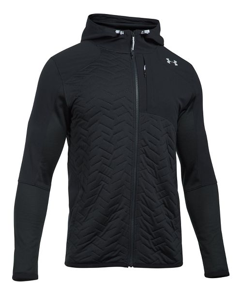 Mens Under Armour Reactor Insulated Full-Zip Cold Weather Jackets - Black XXL