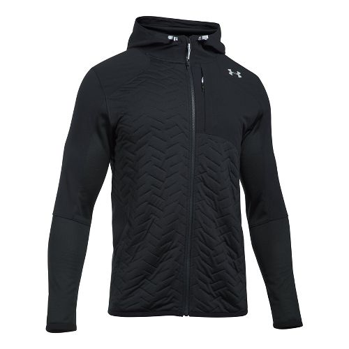 Mens Under Armour Reactor Insulated Full-Zip Cold Weather Jackets - Black L-T