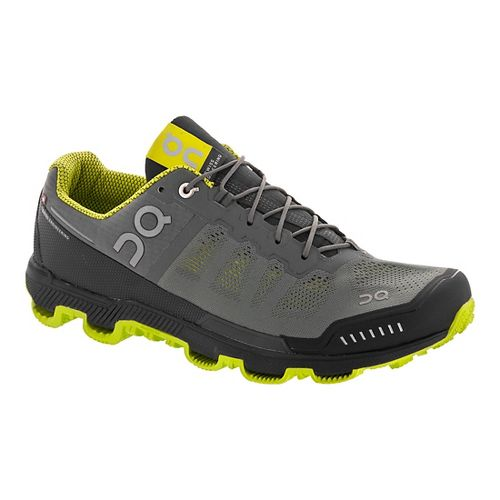 Mens On Cloudventure Trail Running Shoe - Grey/Sulphur 7