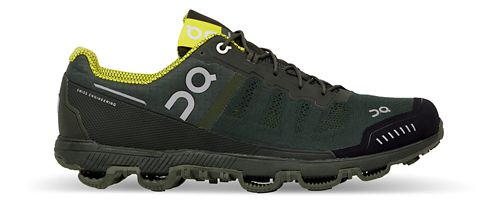 Mens On Cloudventure Trail Running Shoe - Forest/Yellow 10