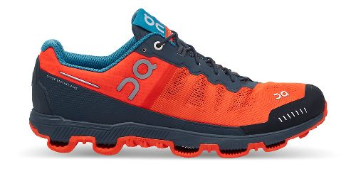 Mens On Cloudventure Trail Running Shoe - Flame/Shadow 12
