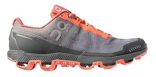 Womens On Cloudventure Trail Running Shoe - Grey/Lava 5.5