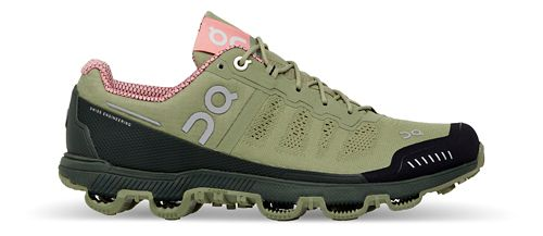 Womens On Cloudventure Trail Running Shoe - Green/Pink 11