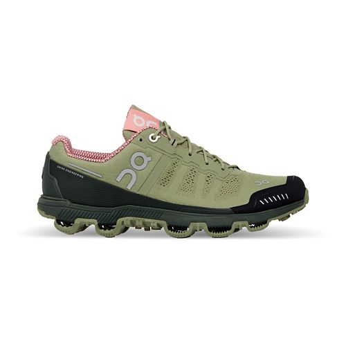 Womens On Cloudventure Trail Running Shoe - Green/Pink 10.5