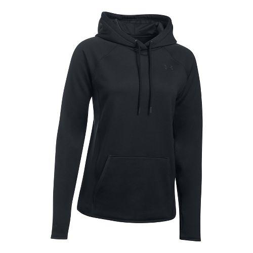 Womens Under Armour Fleece Solid Half-Zips & Hoodies Technical Tops - Black XXL