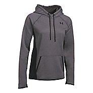 Womens Under Armour Fleece Solid Half-Zips & Hoodies Technical Tops