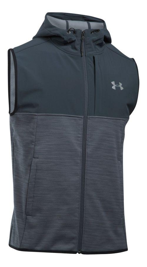 Mens Under Armour Swacket Vests Jackets - Steel M