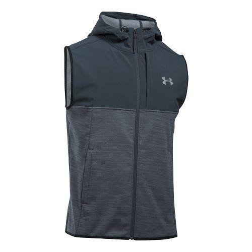 Mens Under Armour Swacket Vests Jackets - Steel L-T