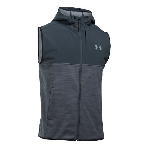 Mens Under Armour Swacket Vests Jackets - Steel XXL-T