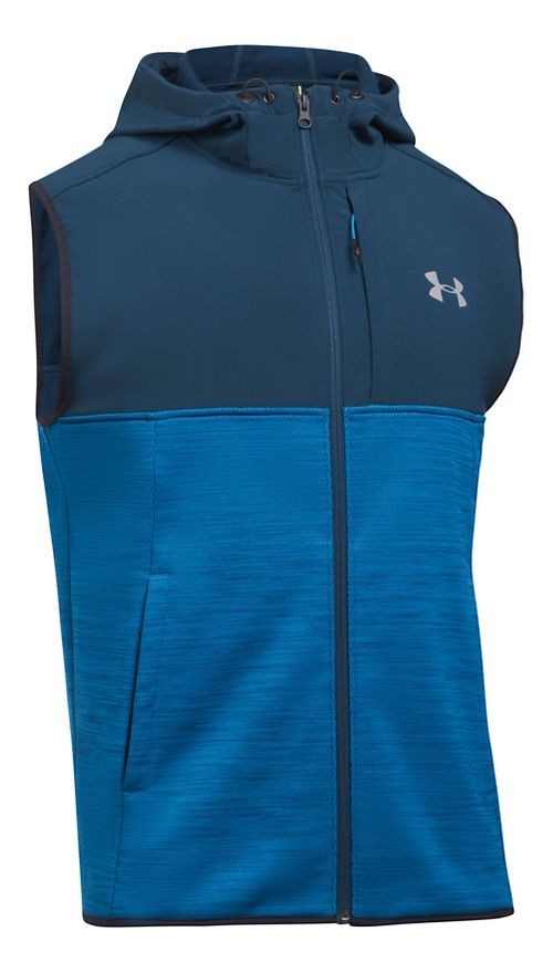 Mens Under Armour Swacket Vests Jackets - Cruise Blue M