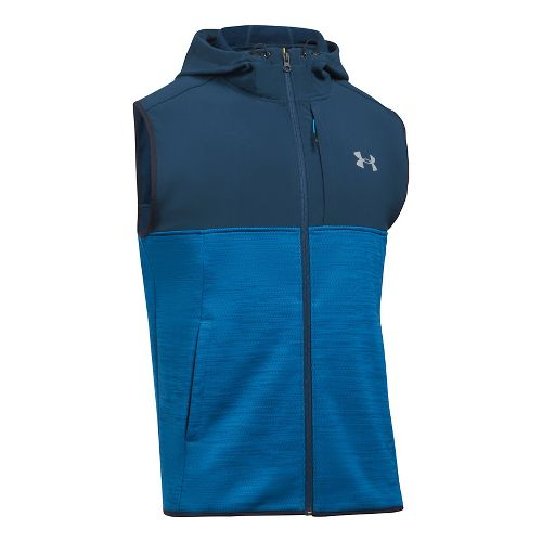 Mens Under Armour Swacket Vests Jackets - Cruise Blue L-T