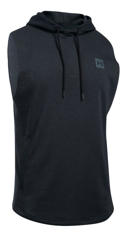 Mens Under Armour Sportstyle Hoodie Sleeveless & Tank Tops Technical Tops - Black XL
