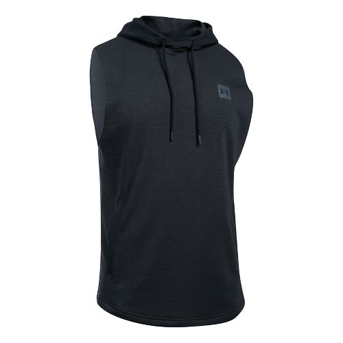 Mens Under Armour Sportstyle Hoodie Sleeveless & Tank Tops Technical Tops - Black L