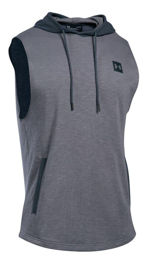Mens Under Armour Sportstyle Hoodie Sleeveless & Tank Tops Technical Tops - True Grey Heather XXL
