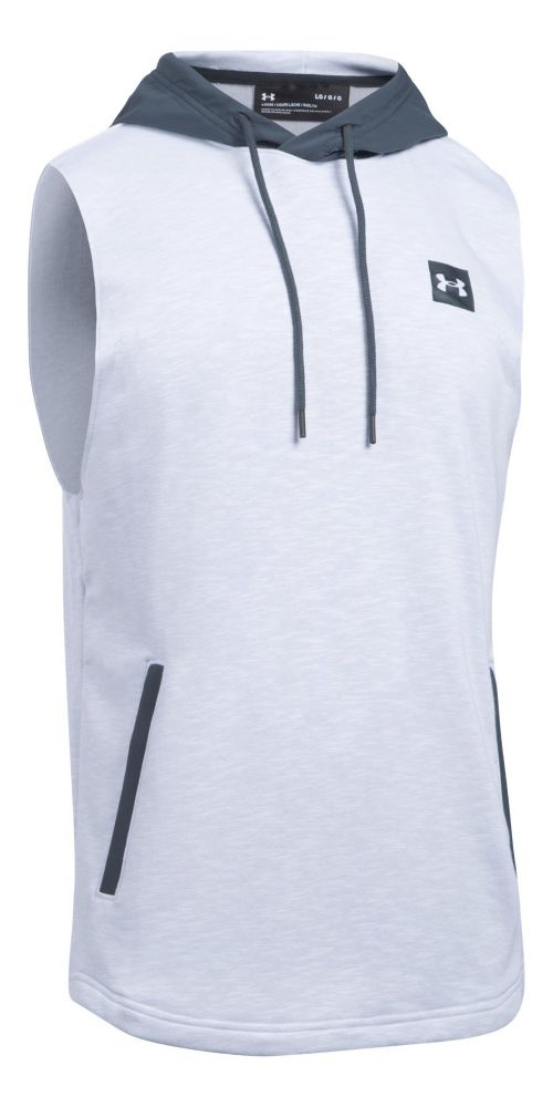 Mens Under Armour Sportstyle Hoodie Sleeveless & Tank Tops Technical Tops - White M