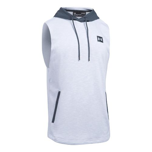 Mens Under Armour Sportstyle Hoodie Sleeveless & Tank Tops Technical Tops - White 3XL