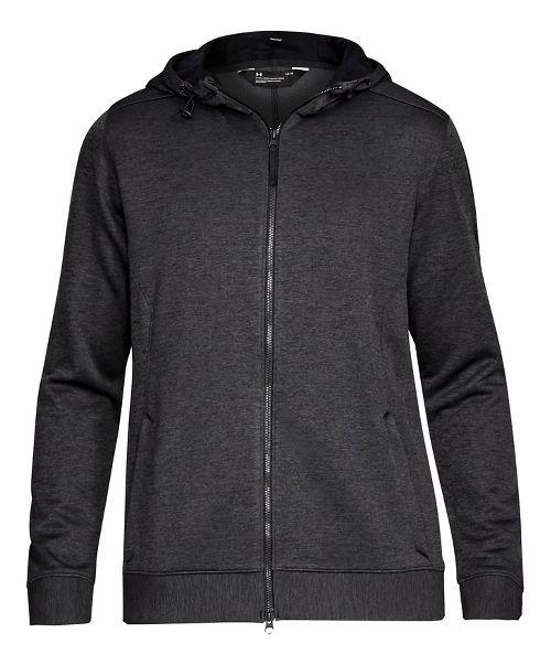 Mens Under Armour Sportstyle Sweater Fleece Full-Zip Half-Zips & Hoodies Technical Tops - Black XXL