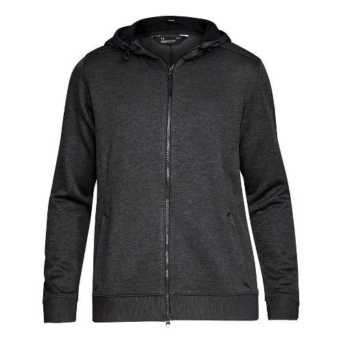 Mens Under Armour Sportstyle Sweater Fleece Full-Zip Half-Zips & Hoodies Technical Tops - Black M