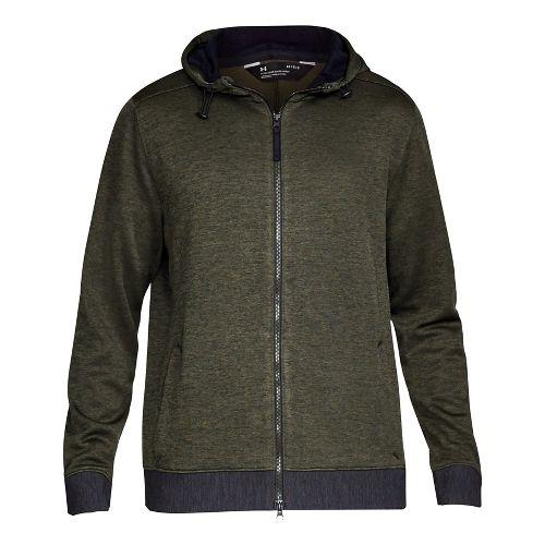 Mens Under Armour Sportstyle Sweater Fleece Full-Zip Half-Zips & Hoodies Technical Tops - ...