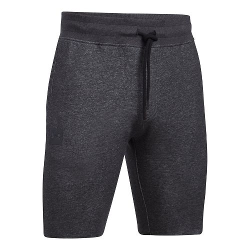 Mens Under Armour Sportstyle Terry Tapered Unlined Shorts - Asphalt Heather 3XL