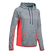 Womens Under Armour Fleece Twist Half-Zips & Hoodies Technical Tops - Steel S