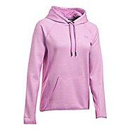 Womens Under Armour Fleece Twist Half-Zips & Hoodies Technical Tops - Icelandic Rose XL