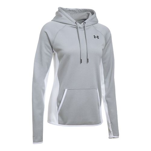 Womens Under Armour Fleece Hoodie-Cross  Technical Tops - Steel M