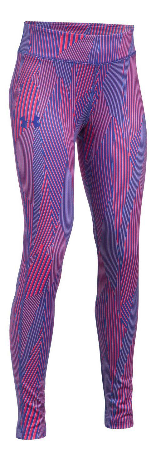Under Armour Girls HeatGear Printed Legging  Tights - Constellation Purple YL