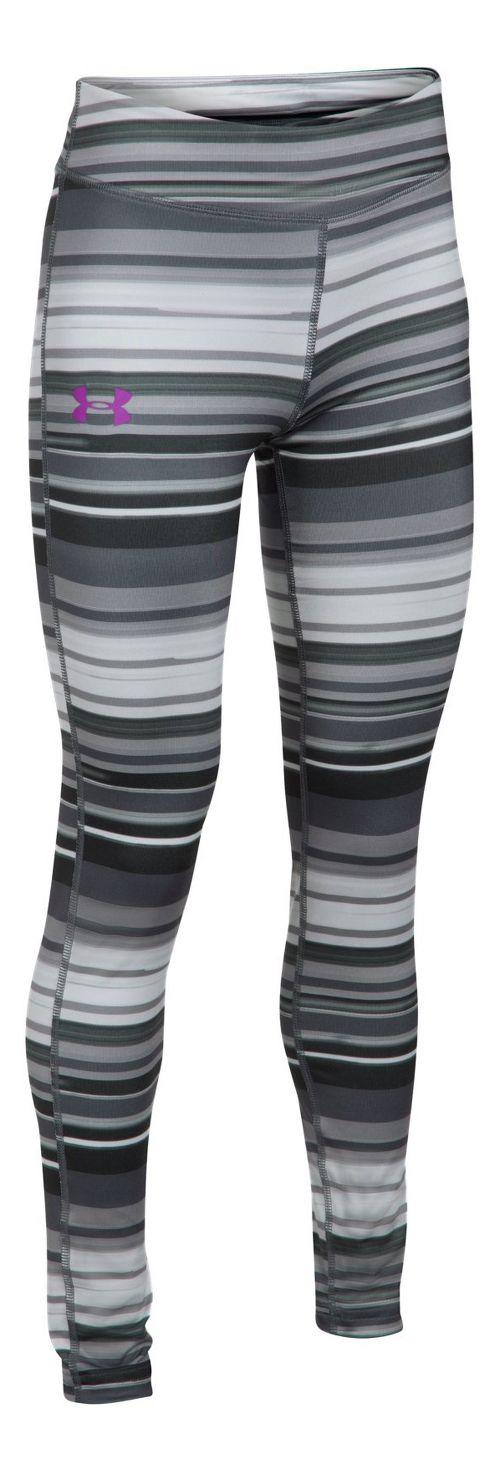 Under Armour HeatGear Printed Legging  Tights - Overcast Grey YM