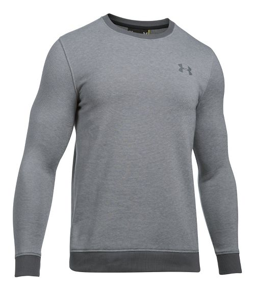 Mens Under Armour Rival Fitted EOE Crew Long Sleeve Technical Tops - Graphite M