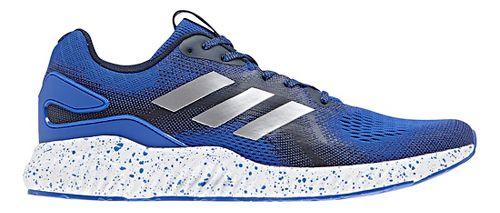 Mens adidas AeroBounce ST Running Shoe - Blue/Silver 8.5